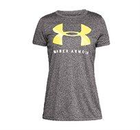 חולצת טי לנשים Under Armour - אפור/צהוב
