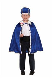 סט גלימה וכובע למלך ילדים