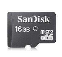 כרטיס זיכרון SanDisk Micro SDHC נפח 16GB דגם SDSDQ-016G-B35