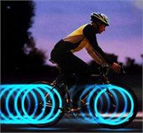 מנצנצים בבטיחות! זוג פנסי לד לגלגלי הרכב, אופניים ואופנוע