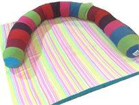 בראש טוב! מגן ראש 'תינוחש' למיטת תינוק מבית מילגה, משמש גם כתמיכה ומשחק רך וצבעוני!