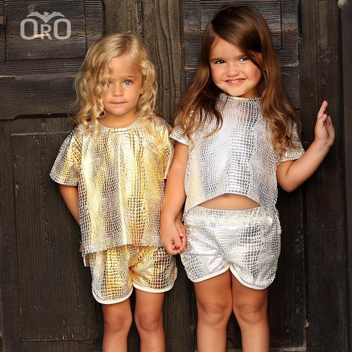 חליפת שורט Oro לילדות (מידות 2-7 שנים) זהב