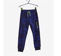 מכנסי אימונית עם הדפס קומופלאז לילדים בצבע נייבי