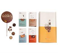 מארז שוקולד מאוהב עם הקדשה בכיתוב ידני
