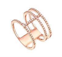 טבעת זהב 14K משובצת 89 יהלומים במשקל כולל של 0.51 נקודות