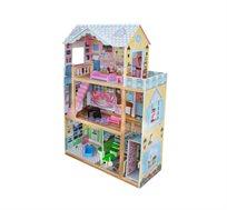 בית בובות מעץ לילדות דגם סאלי -ספירל