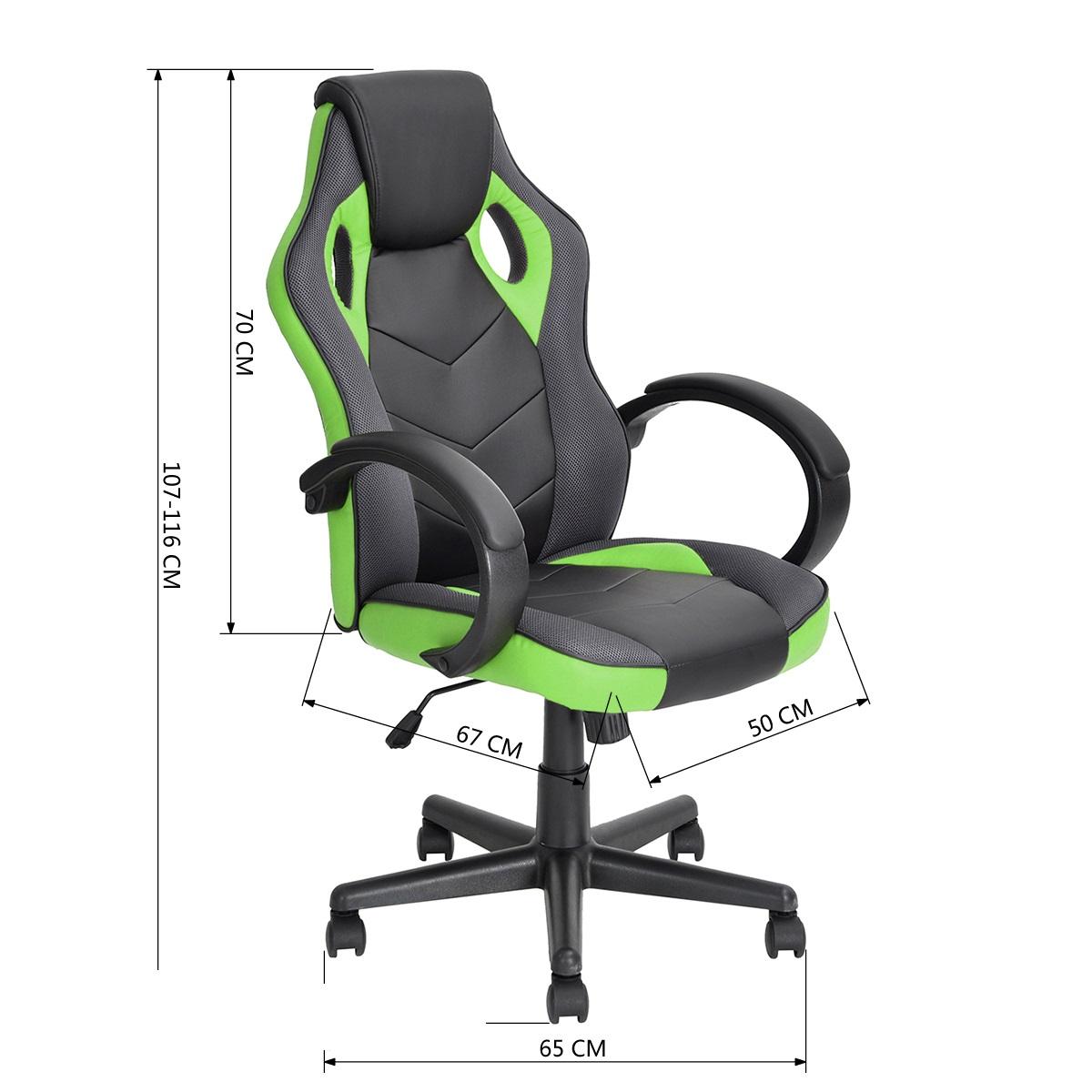 כסא סופר-גיימר Homax מעוצב לבית או למשרד לישיבה ממושכת ונוחה במגוון צבעים לבחירה - תמונה 6