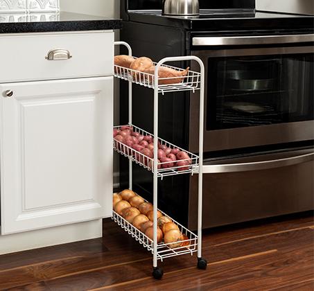 עגלה לאחסון במטבח לאחסנת ירקות, פירות, תבלינים ועוד מבית honey can do ארה