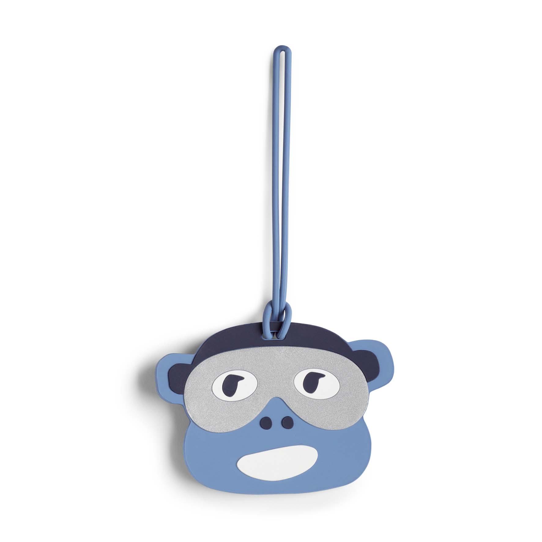 תגית קוף לתיק Monkey Fun Tag Bl - Monkey Faceהדפס קוף