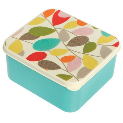 קופסת אוכל עלים צבעוני