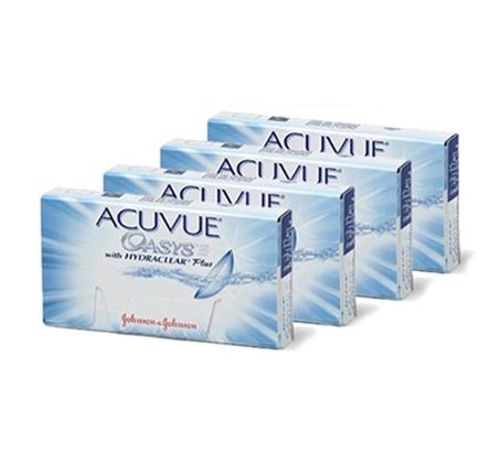 מארז של 4 חבילות למשך חצי שנה לעדשות מגע דו שבועיות Acuvue Oasys רק ₪114 לחבילה!  - משלוח חינם - תמונה 2