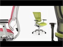 כיסא עבודה אורטופדי Mirus עם משענת ראש Comfort