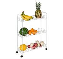 """עגלה לאחסון במטבח לאחסנת ירקות, פירות, תבלינים ועוד מבית honey can do ארה""""ב"""