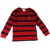Ralph Lauren / ראלף לורן (9-3 חודשים) חולצת פיקה פסים - אדום כחול
