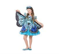 תחפושת לילדות פרפרית כחולה