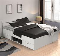 מיטה זוגית עם מגירות ותא אחסון + 2 שידות תוצרת צרפת דגם מישיגן פלוס HOME DECOR