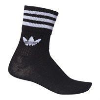 מארז גרבי אדידס שחור לבן - Adidas Mid-Cut Crew Socks