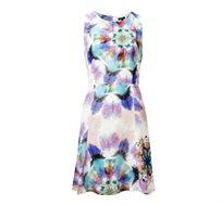 שמלת Flare לנשים - צבעוני