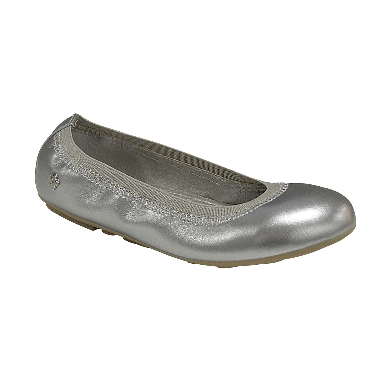73e3aa862 נעלי בנות דגם נעל בובה טריקסי מטאלי בצבע כסוף - משלוח חינם