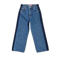 ג'ינס סיומת מתרחבת Superdry Phoebe לנשים בצבע כחול