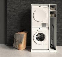 ארון שירות למכונת כביסה ומייבש בגוונים לבחירה