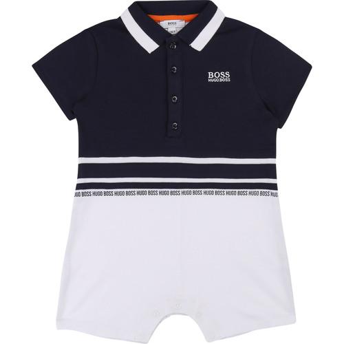 Boss בוס אוברול פולו (3-18 חודשים)- כחול לבן
