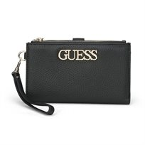Guess נשים // Uptown Chic Slg Double Zip Organizer Black