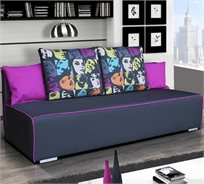 ספת אירוח מעוצבת הנפתחת למיטה זוגית עם ארגז מצעים - דגם פנים HOME DECOR