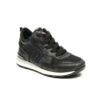 Magma Mid Cut Sneak - נעלי סניקרס ילדים בצבע שחור בעיטור הדפסים
