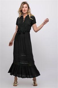 שמלת אריג מקסי