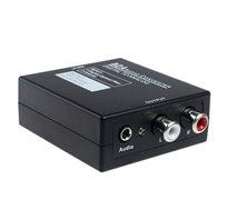 מתאם ממיר מחיבור דיגיטלי אופטי לאנלוגי  Digital to Analog Audio Converter