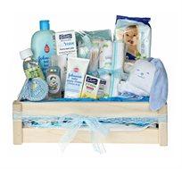 בייסיק באבלס כחול - מתנה מקורית ליולדת המכילה את כל המוצרים הנחוצים עם ההגעה הביתה לאחר הלידה - משלוח חינם