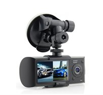 מצלמת דרך דואלית HD הכוללת GPS לניתוח מסלול הנסיעה
