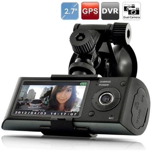 מצלמת דרך דואלית HD ,הכוללת GPS לניתוח מסלול הנסיעה ו-2 מצלמות לתיעוד הנסיעה ולתיעוד פנים הרכב - משלוח חינם - תמונה 2