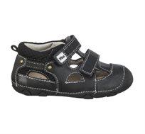 נעלי צעד ראשון סופטי חלק Papaya לתינוקות בצבע שחור