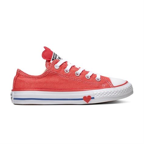 Converse ילדים // דנים לב אדום חצי