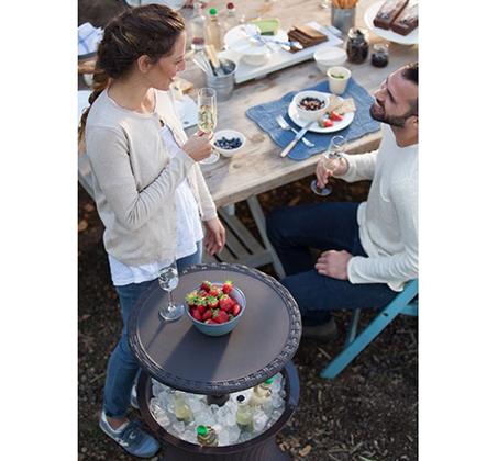 שולחן קוקטיילים פסיפיק ראטן לאירועים מחוץ לבית KETER - תמונה 3