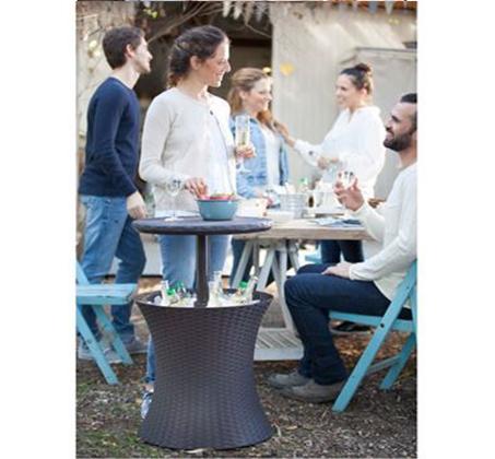 שולחן קוקטיילים פסיפיק ראטן לאירועים מחוץ לבית KETER - תמונה 4