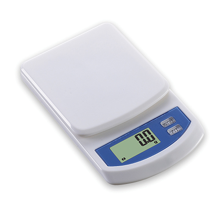 משקל דיגיטלי דק למטבח עם צג LCD