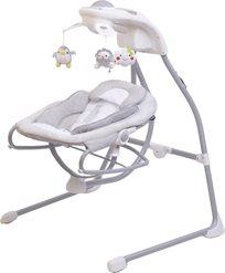 נדנדה חשמלית לתינוק משולבת טרמפולינה By028 - בז'