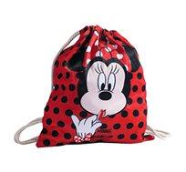תיק שרוך מיני מאוס לילדות - אדום + כובע מתנה