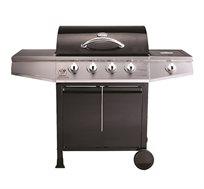 גריל גז 4 מבערים דגם Buffalo Chef + כירת צד + כיסוי וסט כלים מתנה
