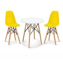 פינת אוכל מודרנית לילדים כוללת שולחן וזוג כסאות במבחר צבעים