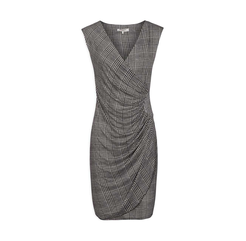 שמלת מעטפת MORGAN עם מחשוף וי - דוגמת פפיטה