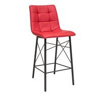 כיסא בר מעוצב מרופד דמוי עור לשימוש במטבח במגוון צבעים לבחירה