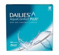 4 אריזות עדשות מגע יומיות DAILIES AquaComfort Plus למשך חצי שנה אלקון