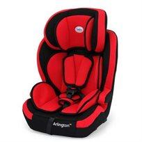 כסא בטיחות משולב בוסטר ארלינגטון עם חיבור איזופיקס - שחור/אדום