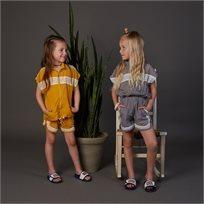 חליפה ORO לילדות (מידות 2-7 שנים) חרדל אפור