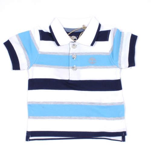 Timberland / טימברלנד חולצת פולו פסים - כחול לבן