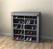 מעמד אחסון נעליים כפול בעל 10 קומות לאחסנה של עד 30 זוגות נעליים